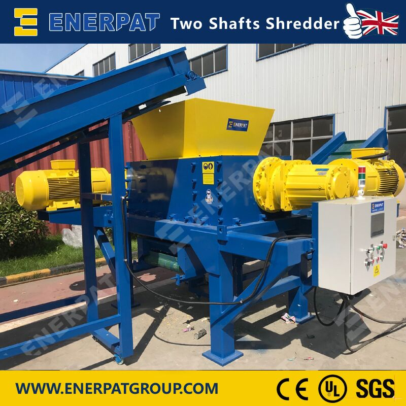 High Quality Economic Two Shaft Shredder Machine Supplier for Chemical Barrel