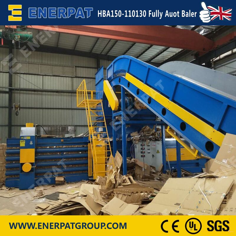 Energy Saving Automatic Scrap Cardboard Recycling Machine