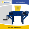 High Efficiency Commercial Plastic Drums Two Shaft Shredder Machine for Sale