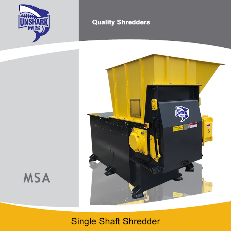 What are the single shaft shredder series